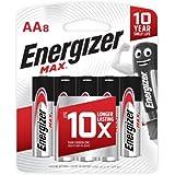 Energizer E91BP8 Max Alkaline AA 8's, 200 Grams
