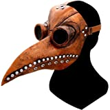 un know Halloween Plague Doctor Bird Mask Long Nose Beak Cosplay Retro Steampunk Props for Halloween Costume Props