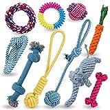 Luxebell 犬 猫 ペット 噛む おもちゃ ロープおもちゃ 10点セット 清潔 歯ぎしり 運動不足 ストレス解消