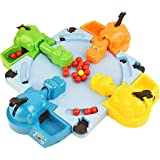 Hungry Hippo Swallowing Marbles Interactive Educational Toys Early Education Double Competitive Game Kids' Marble Game (Color