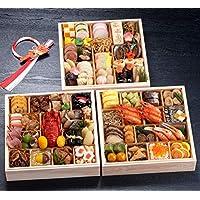 京都 しょうざん おせち料理 2019 紙屋川 三段重 70品 盛り付け済み 冷凍おせち お届け日:12月30日