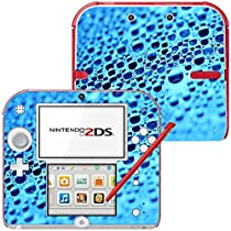 Water Drops, Skin Sticker Vinyl Cover with Leather Effect Laminate and Colorful Design for Nintendo 2DS by Virano [並行輸入品]