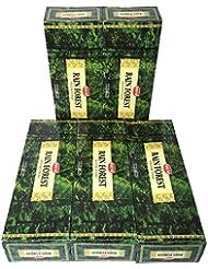 HEM レインフォレスト香 スティック 5BOX(30箱)/HEM RAIN FOREST/ インド香 / 送料無料 [並行輸入品]