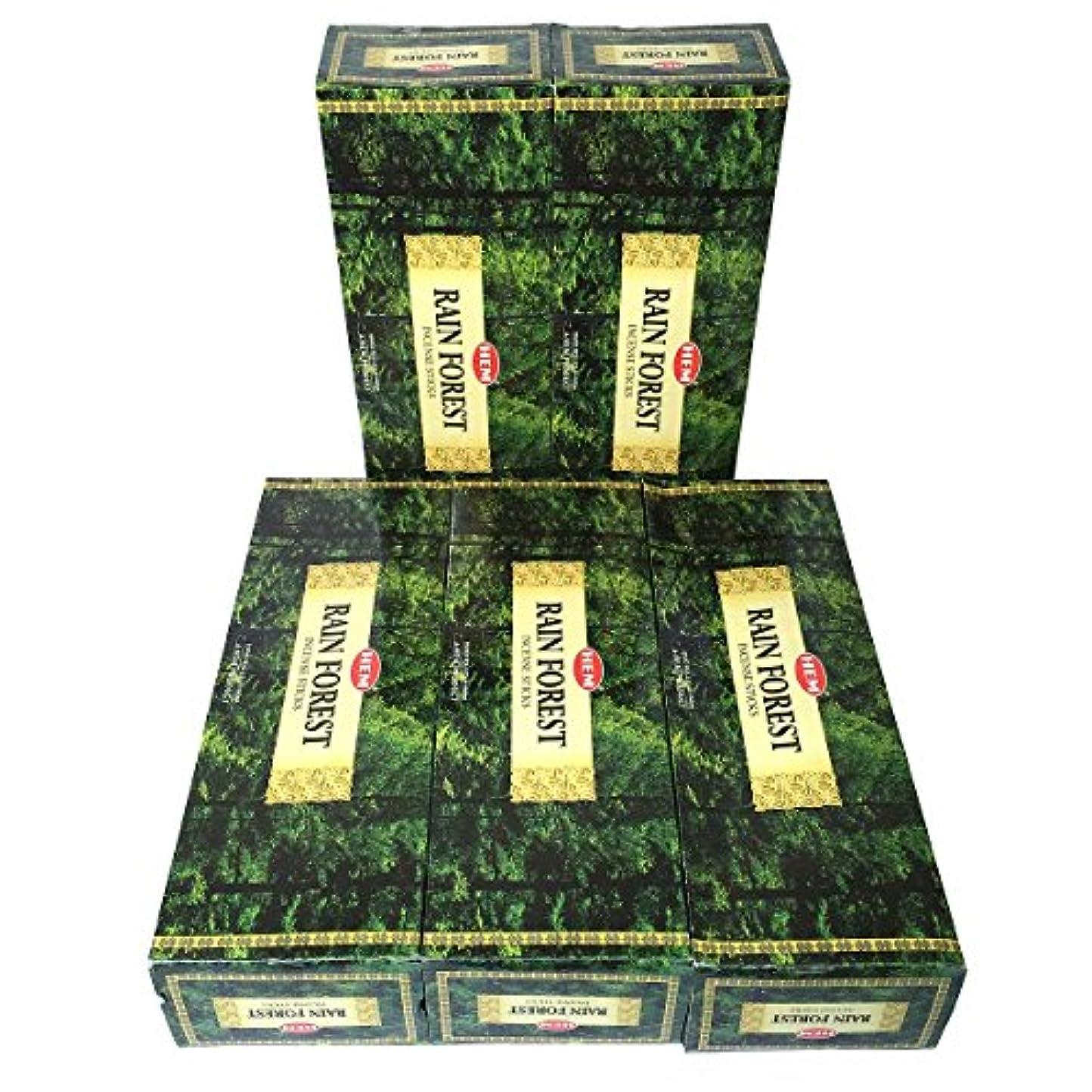 時代遅れ現在修理工HEM レインフォレスト香 スティック 5BOX(30箱)/HEM RAIN FOREST/ インド香 / 送料無料 [並行輸入品]