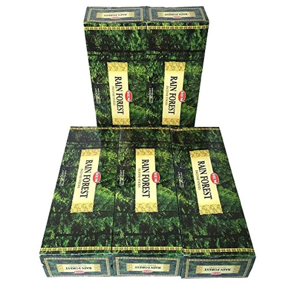 城お母さん抵抗HEM レインフォレスト香 スティック 5BOX(30箱)/HEM RAIN FOREST/ インド香 / 送料無料 [並行輸入品]