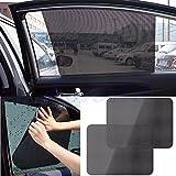 KESOTO Pair Vehicle Car Rear Window Side Sunshade Cover Cling Visor Shield Screen