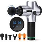 Darkiron Massage Gun Deep Tissue Percussion Muscle Massager for Pain Relief, Handheld Electric Body Massager Sports Drill Por