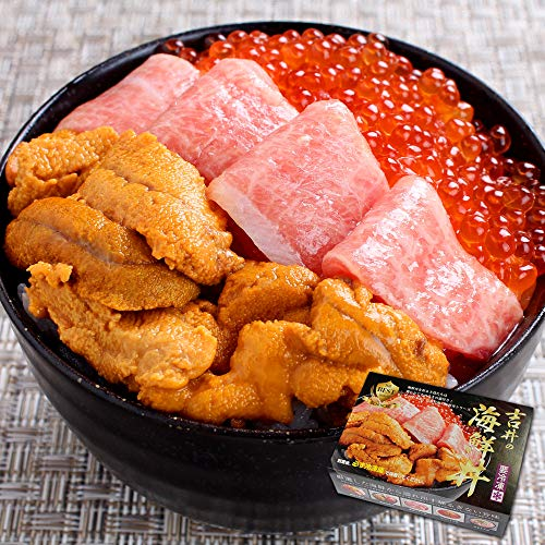 海鮮三色丼 厳選3点セット 2~3人前(大トロ、ウニ、イクラ) 父の日 マグロ 本鮪 (通常商品)