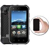 OKAYONE S10 PRO 世界最小4Gスマートフォン IP68防水、防塵、耐衝撃 ( 3.0インチ 3GB RAM と32GB ROM クアッドコア SIMフリー )スマートフォン本体 1800mAh 13.0MPリアカメラ NFC 顔認証 指紋認証 (ブラック)