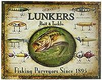 Lunker 's Lures餌およびタックルTin Sign 13x 16in