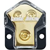 LEIGESAUDIO 0/2/4 Gauge in 4/8/10 Gauge Out 2 Way Amp Copper Power Distribution Block for Car Audio Splitter