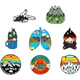 GYAYU Outdoors Enamel Pins for Backpacks - Enamel Pins for Backpacks Cute Pins for Jackets Enamel Pin Set for Bookbags Lapel