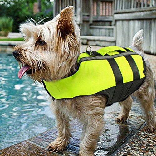 Fashionwu ペット 犬 エアバッグ ライフジャケット ペットライフジャケット 救命胴衣 救急服 ペット用品 海 安心 速乾性 M 52-70cm