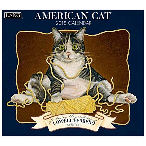 [猫 カレンダー 2018年]ラング LANG 壁掛け/AMERICAN CAT Lowell Herrero ねこグッズ