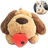 wentgo Pet Plush Toys Super Cuddly Snuggle Plush Toy Puppy Behavioral Training Aid Toy Heartbeat Dog Toy for Rebuild Intimacy