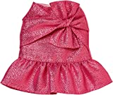 バービー ピンク メタリック リボン ペプラム スカート ファッション