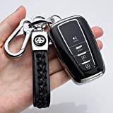121Fruit Way for Toyota Key Fob Cover Premium Soft TPU 360 Degree Protection Key Case Compatible with 2018 2019 2020 Toyota C