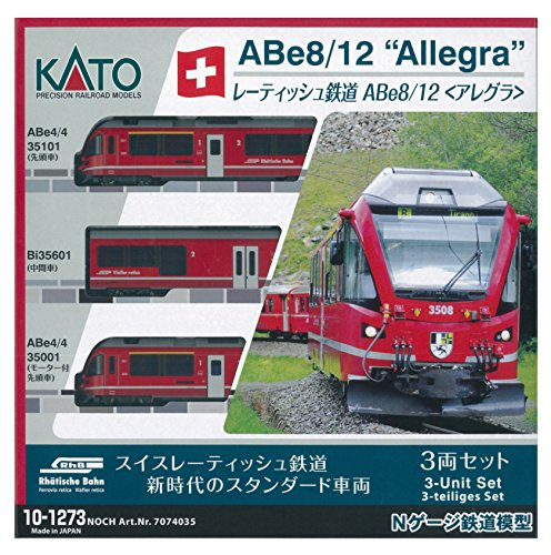 caliente Kato N Gauge Rhaetian Rhaetian Rhaetian Railway Abe8   12 Allegra 10-1273 Model Railroad Train  Tienda 2018