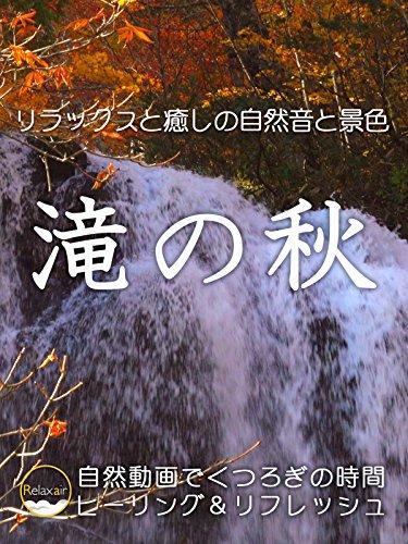 リラックスと癒しの自然音と景色 滝の秋 自然動画でくつろぎの時間 ヒーリング&リフレッシュ
