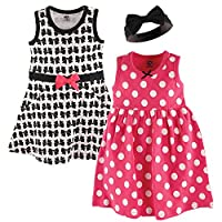 Hudson Baby Girl Dress and Headband Set