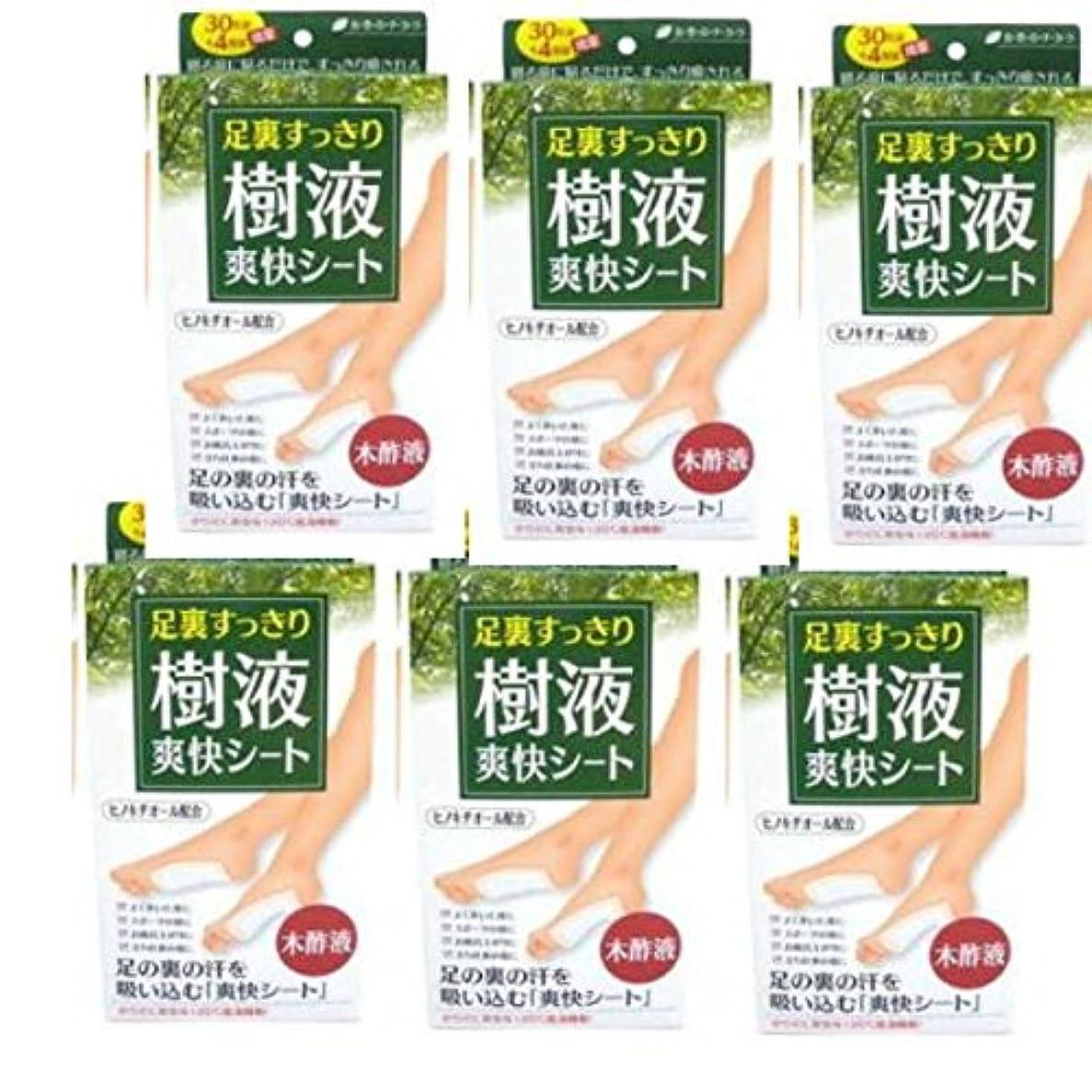 パンツ朝食を食べる木材足裏すっきり 樹液爽快シート 30枚組+4枚組増量【6個セット】(ティー?エイチ?ティー)