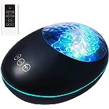 TOMNEW Ocean Wave ProjectorRemote Control Undersea Projector Lamp,8 LightingModesTimer Bluetooth Music SpeakerNight Light