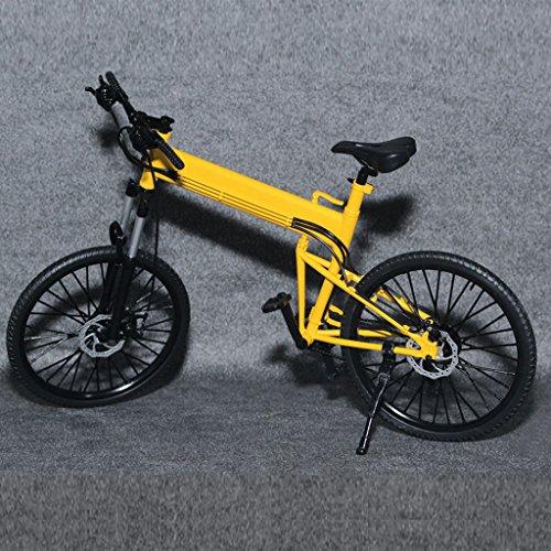 【ノーブランド品】1:6スケール 折り畳み式 自転車 黄色 ...