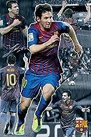 スペインバルセロナリオネル・メッシコラージュ( 2011–2012Season ) Football Player Soccerスポーツファンポスタープリント24x 36
