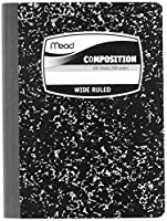 MEA09910 - Sewn Black Marble Cover Composition Book with Wide Rule 11/32, 100 Sheet, Media Size: 7.5 x 9.75 by Mead