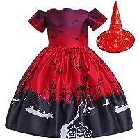 ISLAND Shop ハロウィン 仮装 3点セット 子供 女の子 ドレス+帽子+フェイスステッカー クリスマス サンタ…