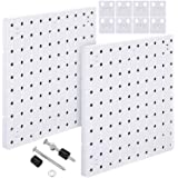 2 Pieces Pegboard Wall Mount Display Pegboard Wall Panel Kits Pegboard Organizer Accessories, 2 Installation Methods, No Dama