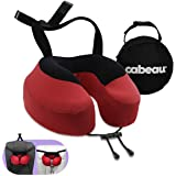 Cabeau Evolution S3 Travel Pillow - Straps to Airplane Seat - Ensures Your Head Won't Fall Forward - Relax with Plush Memory