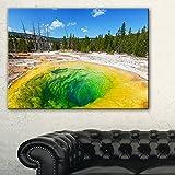 """DesignArt pt89783216Morning GloryプールClose Up風景写真キャンバスプリント、32"""" x 16インチ、グリーン"""
