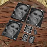 Celine Dion???オリジナルアートギフトセット# js003?( Includes???a4キャンバス???a4プリント???コースター???冷蔵庫マグネット???キーリング???マウスマット???スケッチカード