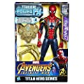 "Marvel Avengers - 12"" (30.5 cm) Spider Man Power FX Figurine - Titan Hero Series - Ages 4+"