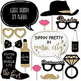 Bigドットの幸せのNash Bash – ナッシュビル独身パーティー写真ブース小道具キット – 20カウント