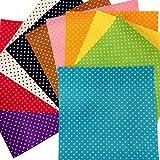 HaAimNay 模様入り カット フェルト ( 星 ハート 肉球 ) カラー 10色 セット 30㎝ × 30㎝ 厚さ 1mm 手芸 材料 (猫 肉球(足あと)柄)