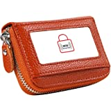 Women's RFID Blocking 12 Slots Credit Card Holder Leather Accordion Wallet