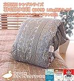 京都西川 シングルサイズ 羽毛掛け布団(日本製) 1.3kg増量タイプ フランス産ホワイトダックダウン93% (ブルー色)