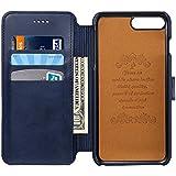 iPhone6 レザーケース iPhone6sケース 手帳型 カード収納 スタンド機能 2つ折り マグネット 落下防止 衝撃吸収 アイフォン保護カバー 財布型ケース 紺 ネイビー