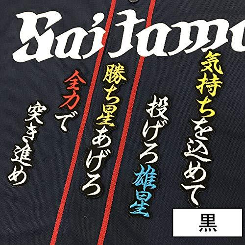 西武ライオンズ 刺繍ワッペン 菊池 応援歌 菊池雄星 (黒)