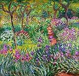 絵画風 壁紙ポスター(はがせるシール式) クロード・モネ ジヴェルニーの庭のアヤメ 1899-1900年 オルセー美術館 キャラクロ K-MON-022S1 (618mm×594mm) 建築用壁紙+耐候性塗料