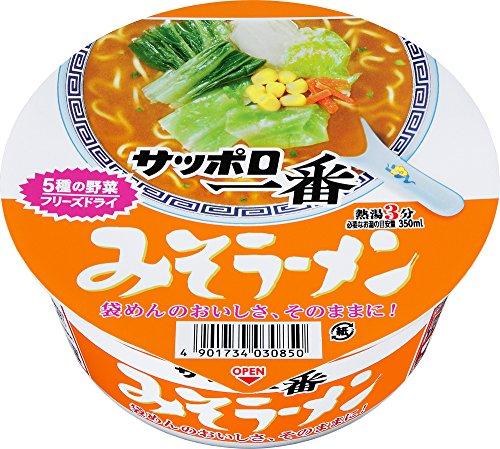 6位 サンヨー食品『サッポロ一番 みそラーメン どんぶり』