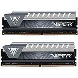 PATRIOT パトリオットメモリー デスクトップ用メモリ Viper Elite シリーズ DDR4 2666MHz (PC4-21300) 16GBx2 ブラック・グレーヒートシンク PVE432G266C6KGY