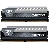 Patriot Memory Viper Elite Series DDR4 8GB (2x4GB) 2666MHz PC4-21300 Dual Channel Kit (Black/Grey) PVE48G266C6KGY