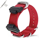 Gazelle Trading 22mm Replacement Nylon Watch Band Strap for Casio Men Women G-Shock GA-110/100/120/150/200/300/400 GD-100/110