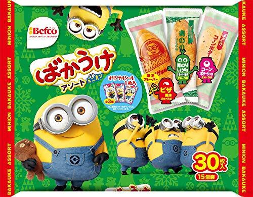 栗山米菓 ばかうけアソート(ミニオン) 30枚 ×10袋