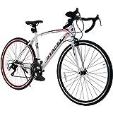 ロードバイク スポーツバイク 700C シマノ14段変速 2WAYブレーキシステム搭載 ドロップハンドル 超軽量高炭素鋼フレーム 自転車