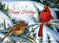 tree-free Greetingsクリスマスカードと封筒のセット、10、5x 7インチ、Holiday Visit ( hb93335)