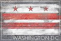 素朴なワシントンDC旗 24 x 36 Signed Art Print LANT-52577-710